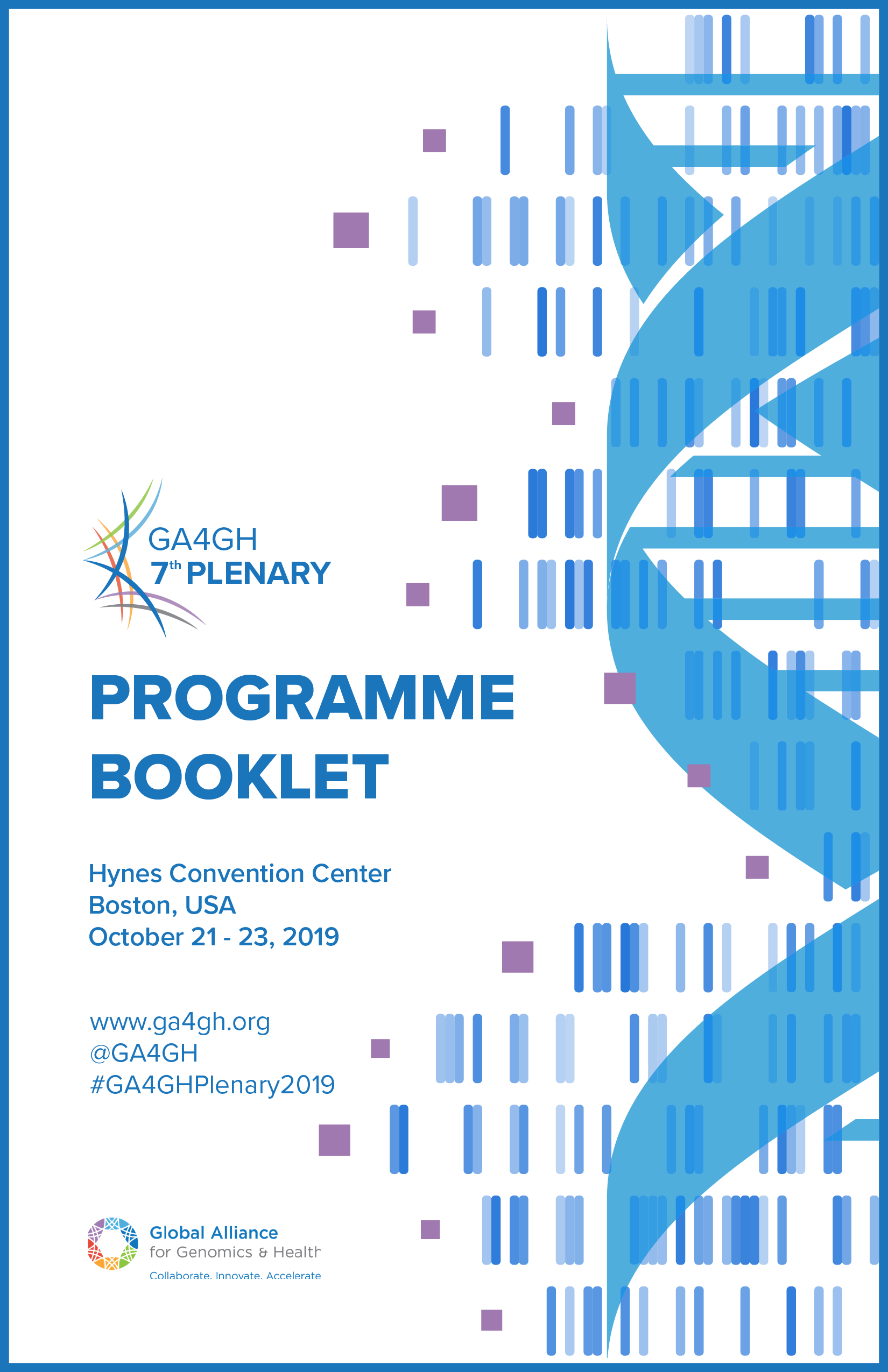 GA4GH 7th Plenary Programme Booklet