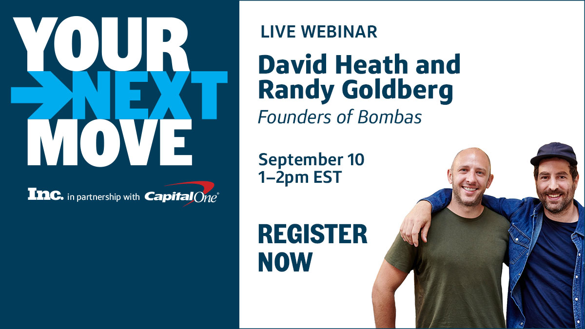 Image of article 'Your Next Move with founders of Bombas       -       Live Webinar 9/10 at 1 PM ET'
