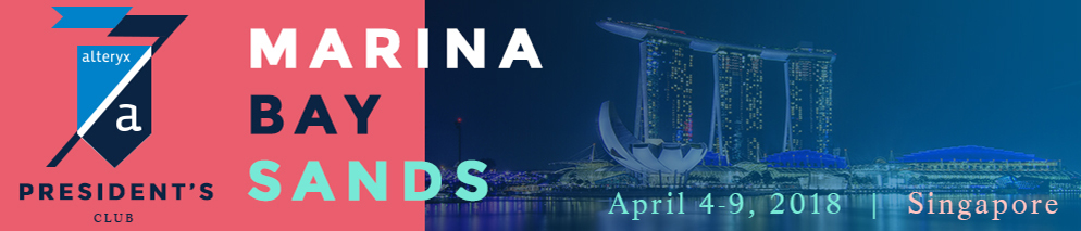 Alteryx President's Club 2018- Singapore