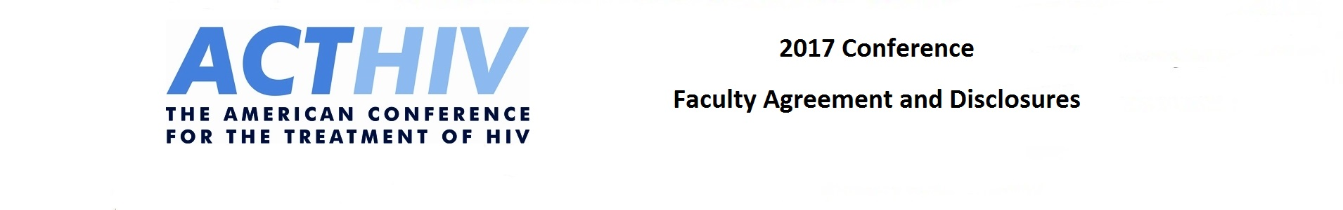 2017 ACTHIV Faculty