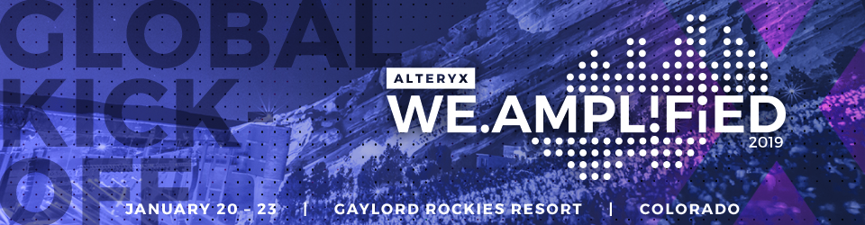 Alteryx Global Kickoff 2019
