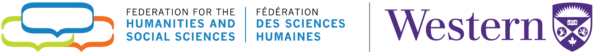 Federation for the Humanities and Social Sciences logo and Western University logo