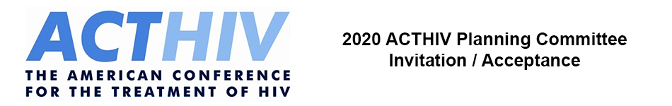 ACTHIV 2020 Planning Committee Reply