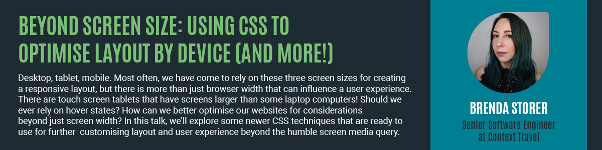 Using CSS to optimise layout by device.