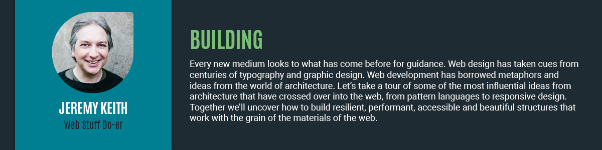Jeremy Keith guides you through building complex and beautiful websites.