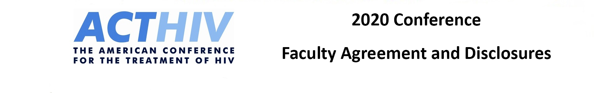 2020 ACTHIV Faculty