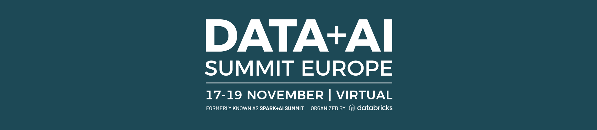 Data + AI Summit Europe 2020
