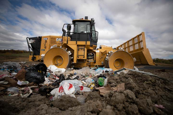 The Cat 816 landfill compactor