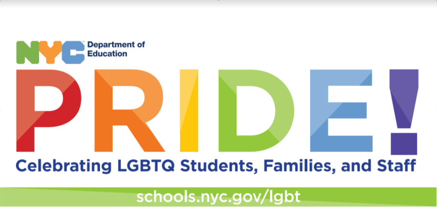 NYC DOE Pride Logo Celebrating LGBTQ Students, Families, and Staff