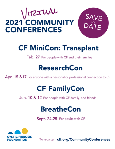 2021 Community Conferences Save the Date Flyer