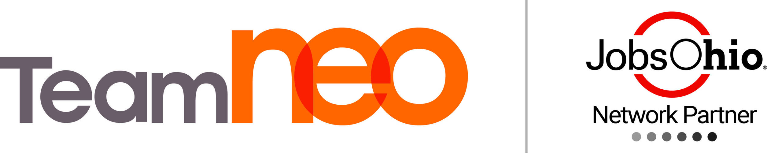 Team NEO and Jobs Ohio logos