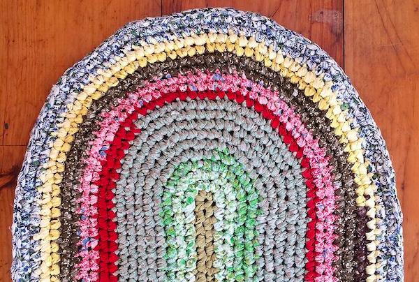 Crochet Rag Rug + Basket