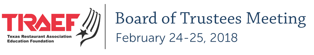 TRAEF Board of Trustees Meeting - February 2018