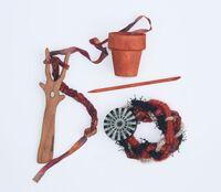 Isn't it Good? Norwegian Wood: Weaving An Autumn Color bracelet On A Tree Shaped Viking Lucet