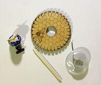 Mellow Yellow Honeybee Kumihimo: Barrel Beaded Bracelet