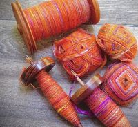 Plying Hefty Hanks from Spindled Yarns