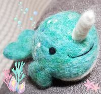 EZ-Peazy Needle Felted Narwhal